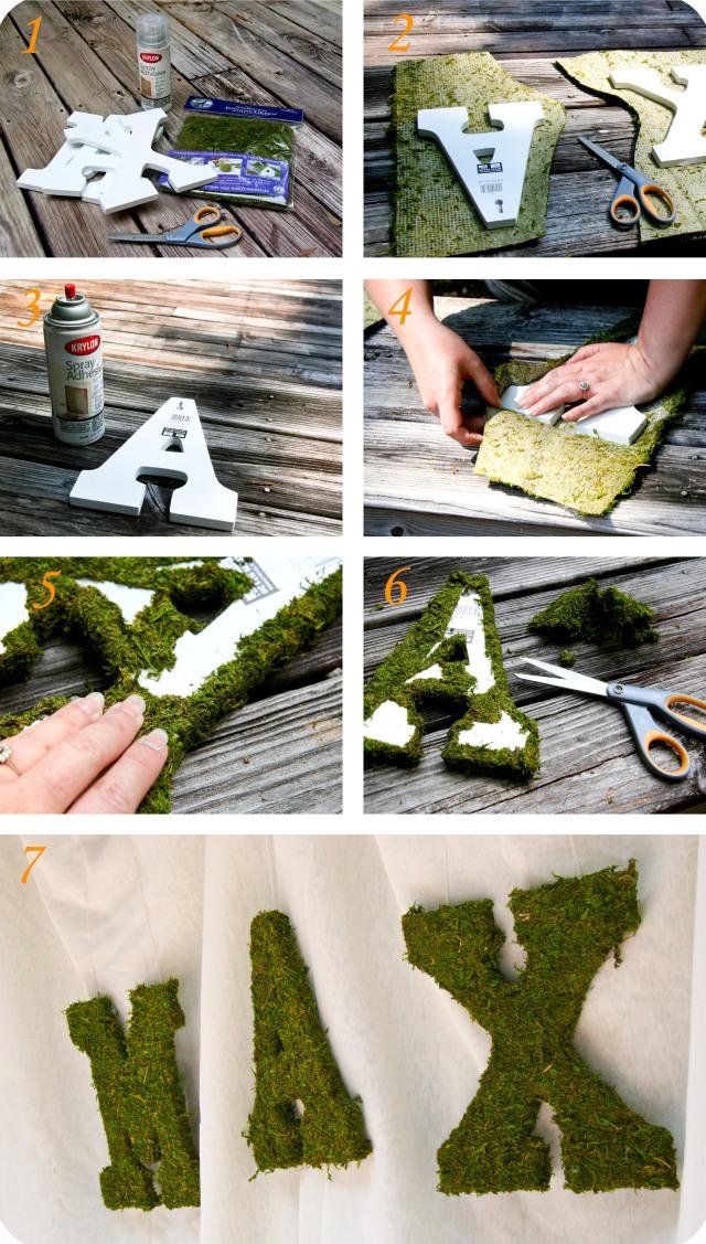 Các bước làm chữ phủ rêu trang trí bữa tiệc trong gia đình