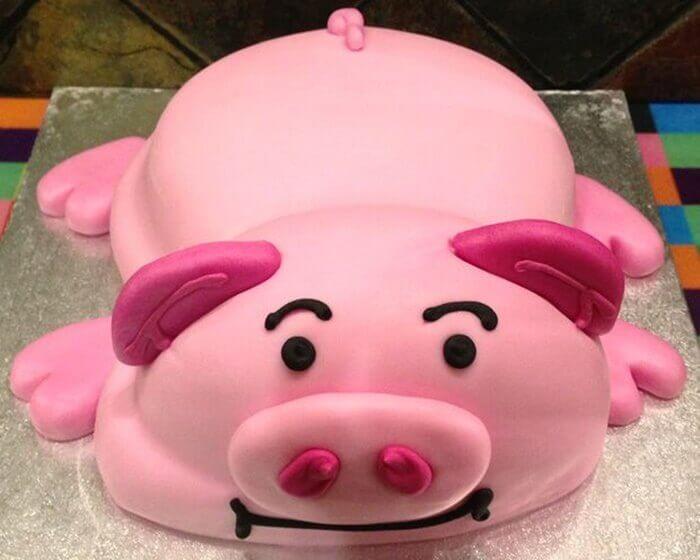 Hình bánh sinh nhật con heo