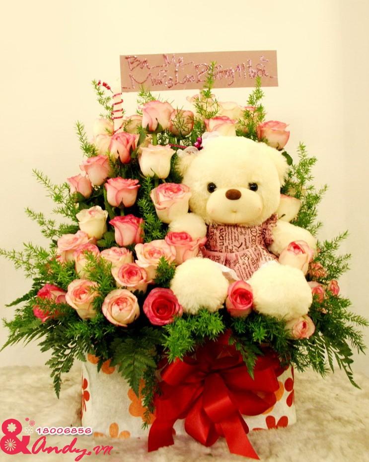 Hoa mừng sinh nhật đáng yêu