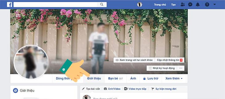 Bước 1 cách ẩn ngày sinh trên facebook