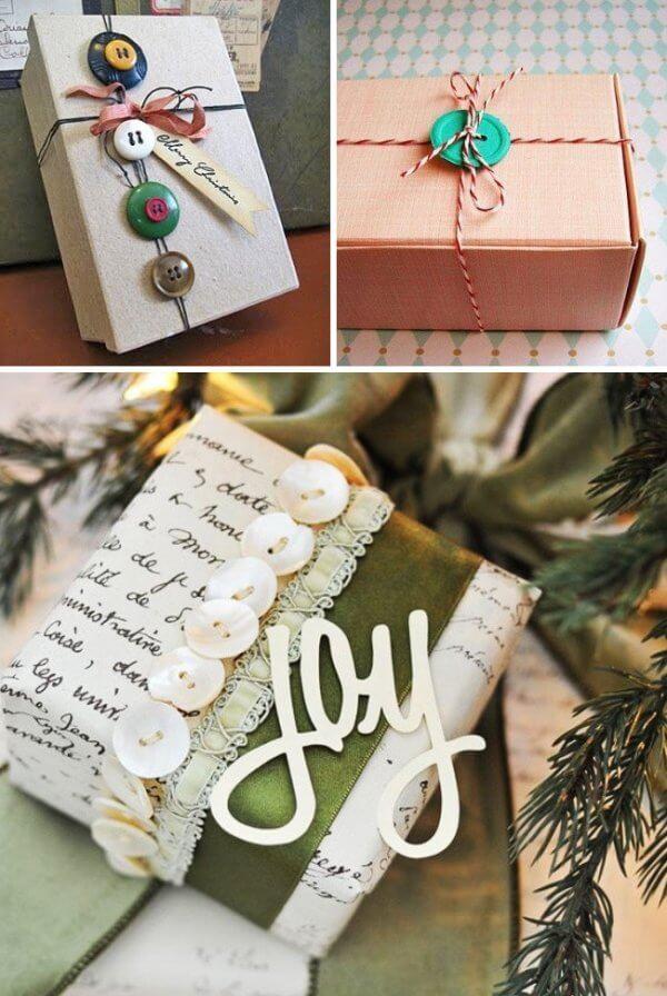 Cúc áo cũng là sản phẩm trang trí quà sinh nhật ấn tượng