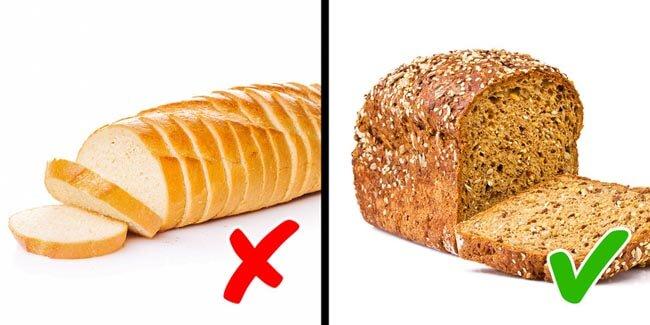 Các bánh mì trắng được làm từ ngũ cốc tinh chế không tốt cho sức khỏe