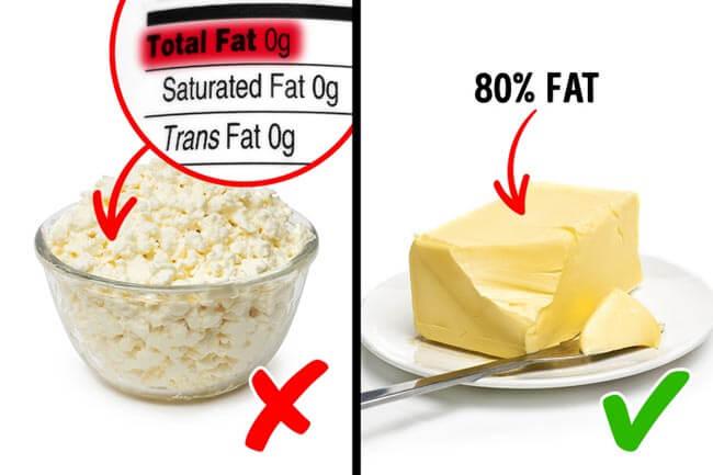 Các loại thực phẩm có chứa đường chế biến
