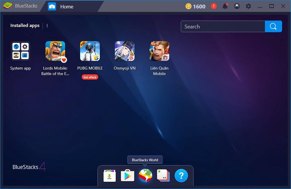 Giả lập BlueStack trên PC - Trình giả lập android trên PC tốt nhất