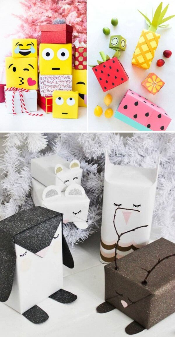Tạo hình emoji sinh động trên các gói quà sinh nhật
