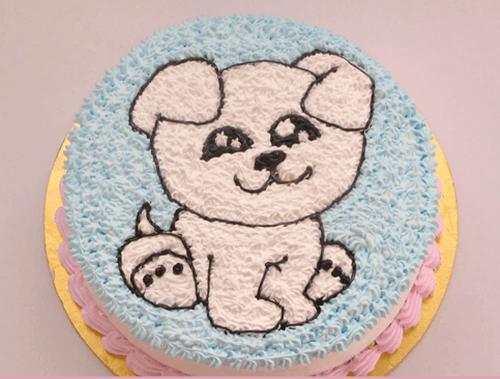 Bánh kem sinh nhật tuổi chó đáng yêu