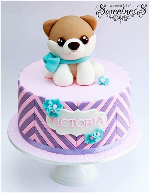 Bánh sinh nhật tạo hình chú chó đáng yêu