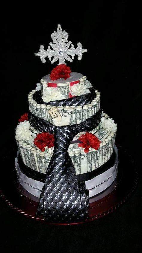 Hình ảnh mừng sinh nhật đẹp với bánh kem bằng tiền