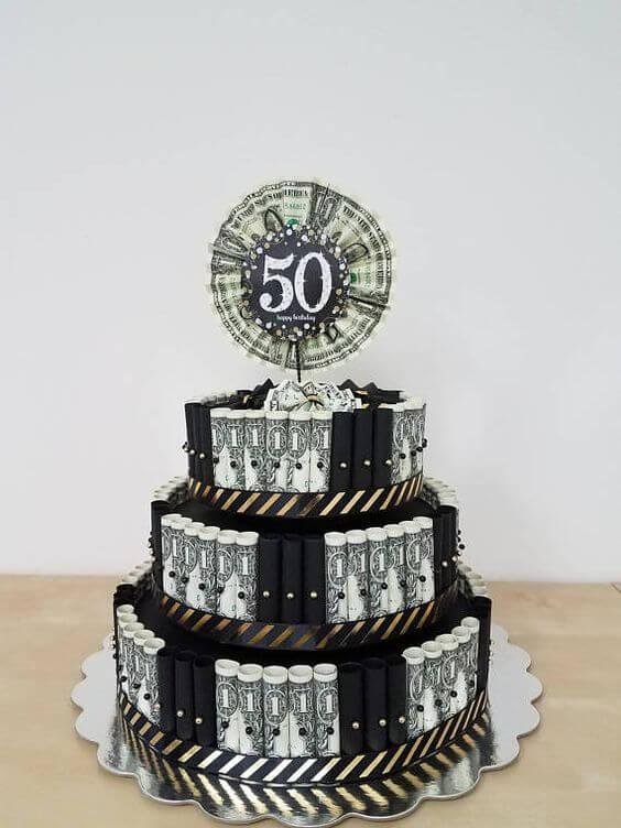 Bánh kem chúc mừng sinh nhật đẹp cho tuổi 50