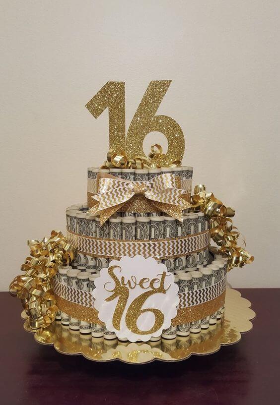 Bánh sinh nhật hình tiền đô la