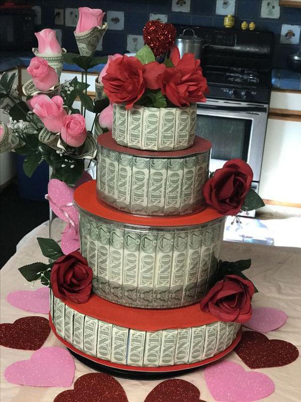Bánh sinh nhật và tiền