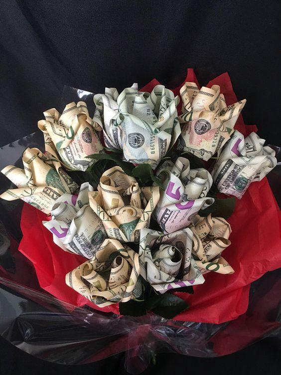 Hình ảnh mừng sinh nhật đẹp bằng hoa tiền