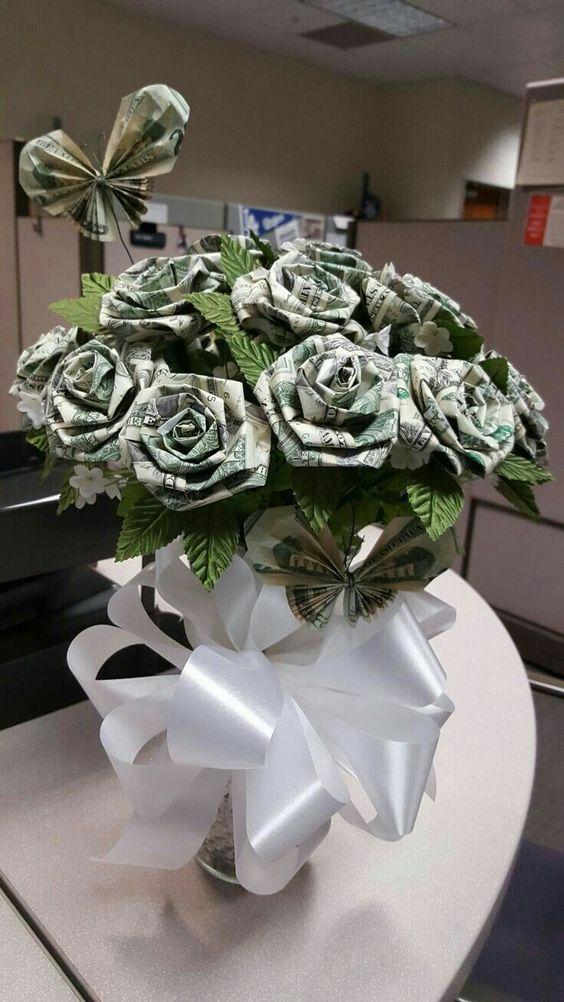 Tải hình ảnh chúc mừng sinh nhật bó hoa hồng bằng tiền