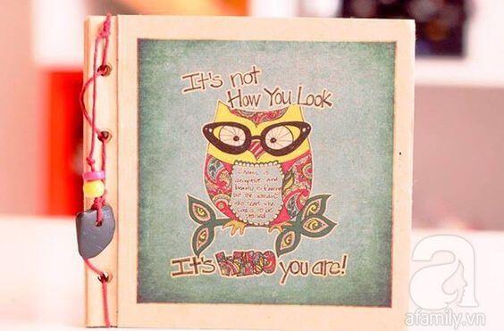 Hình ảnh quà tặng thiệp handmade tự làm trong ngày 20-10