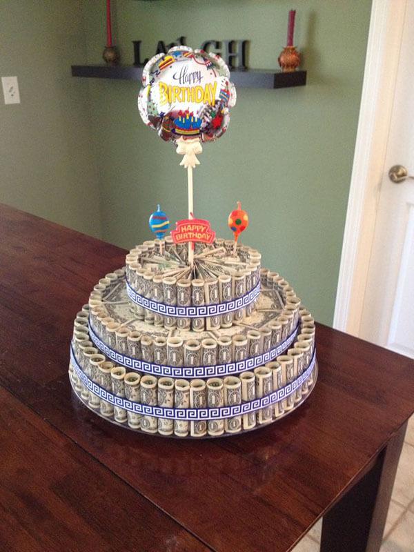Hình ảnh tiền chúc mừng sinh nhật