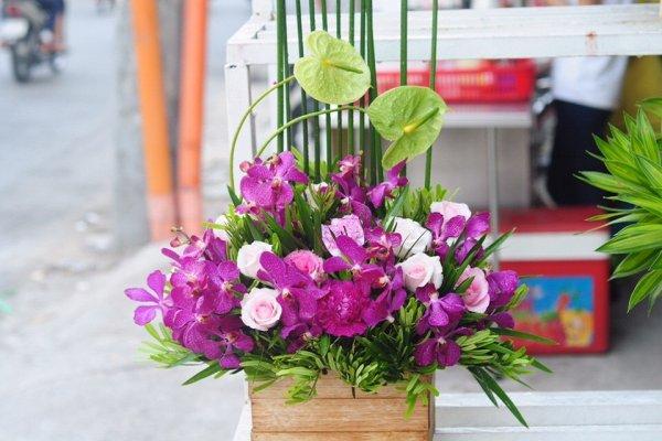 Ảnh hoa mừng sinh nhật đẹp dành cho người yêu màu tím