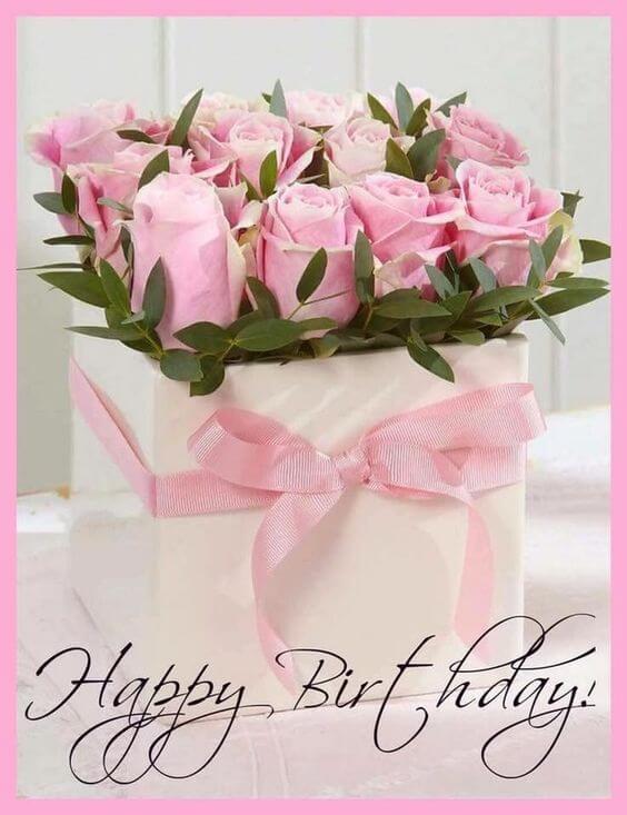 Hình ảnh hoa mừng sinh nhật kèm lời chúc happy birthday