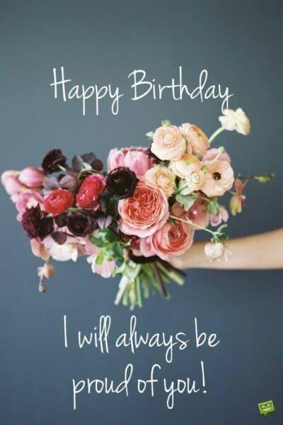 Những hình ảnh sinh nhật đẹp nhất với những bông hoa đủ màu