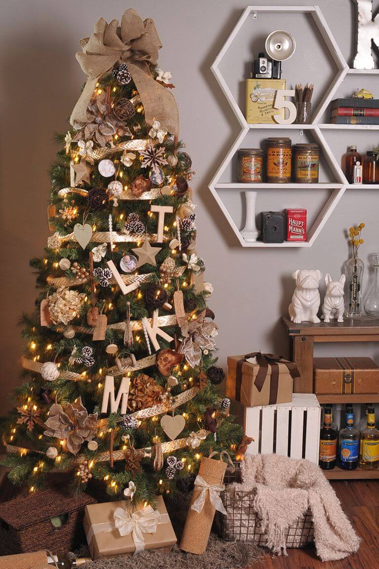 Trang trí cây thông noel đẹp bằng đồ handmade