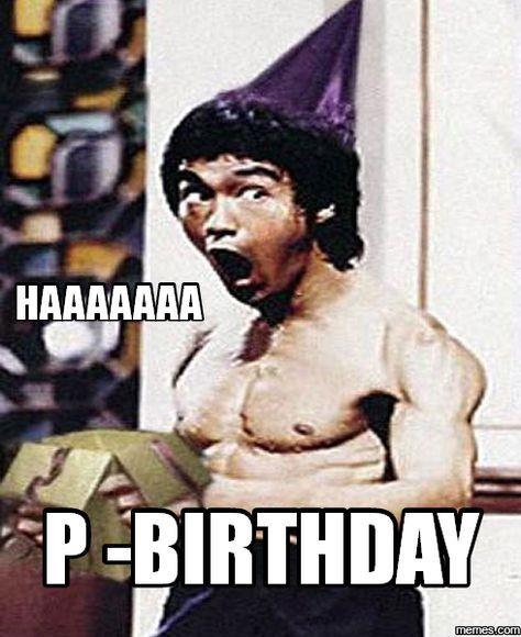 Ảnh chế chúc mừng sinh nhật hài hước Lý Tiểu Long