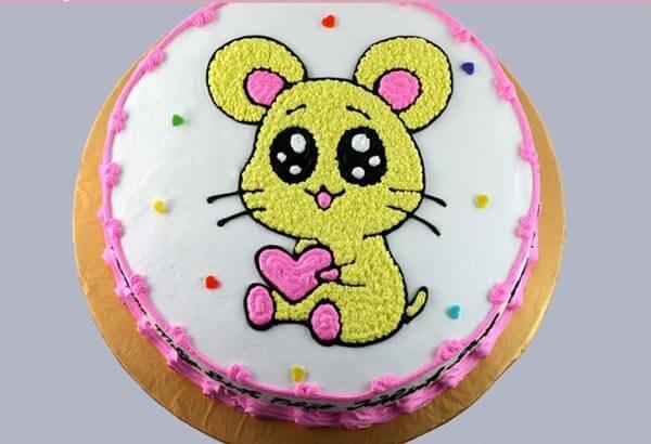 Bánh sinh nhật hình con chuột dễ thương 2020