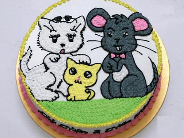 Bánh sinh nhật tuổi tý đẹp