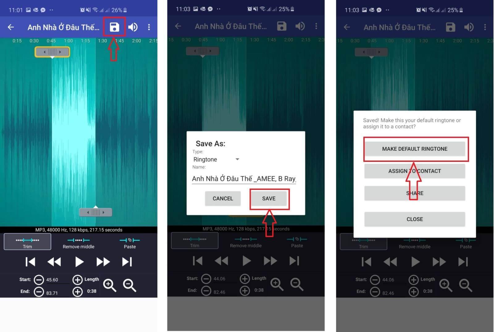 Cách cắt nhạc chuông cho điện thoại bằng ứng dụng Ringtone Maker