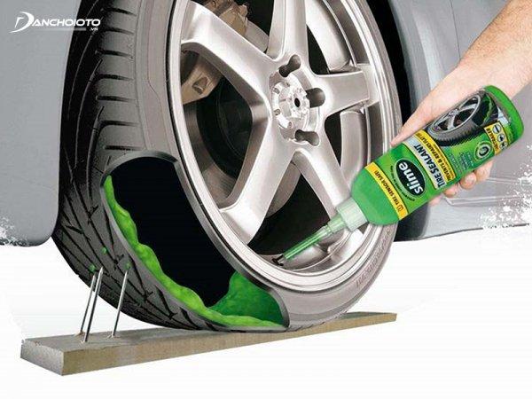 Keo tự vá giúp giữ cho áp suất trong lốp xe ở trạng thái ổn định