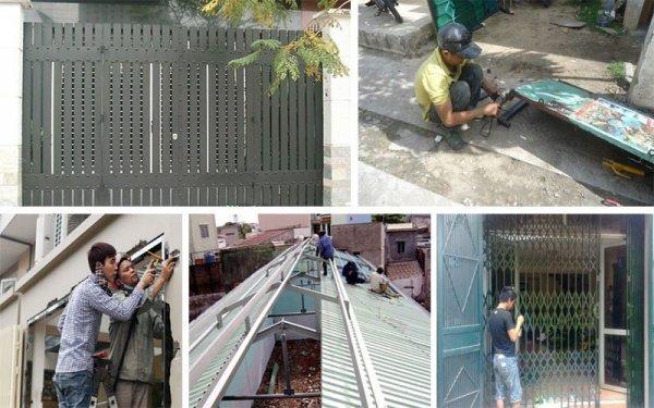 Dịch vụ chuyên nhận sửa chữa cửa sắt