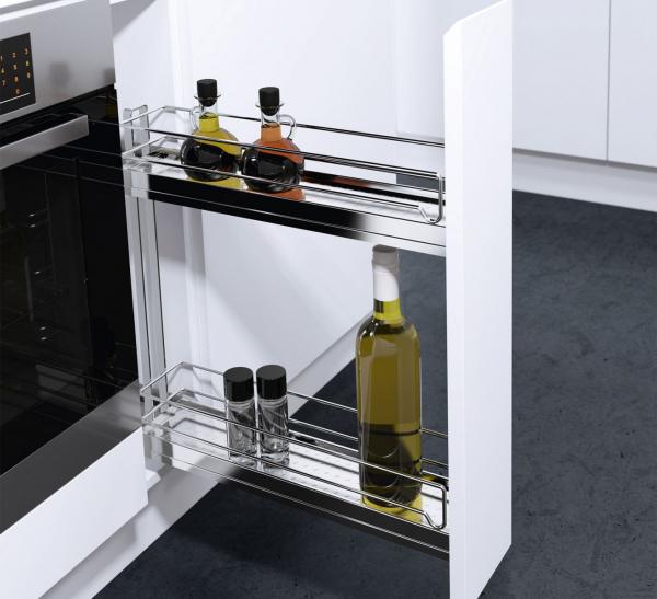 Phụ kiện tủ bếp thông minh - Giá để chai lọ dao thớt và gia vị