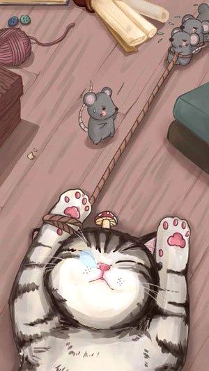 Hình ảnh nền đẹp bé mèo dễ thương khi ngủ