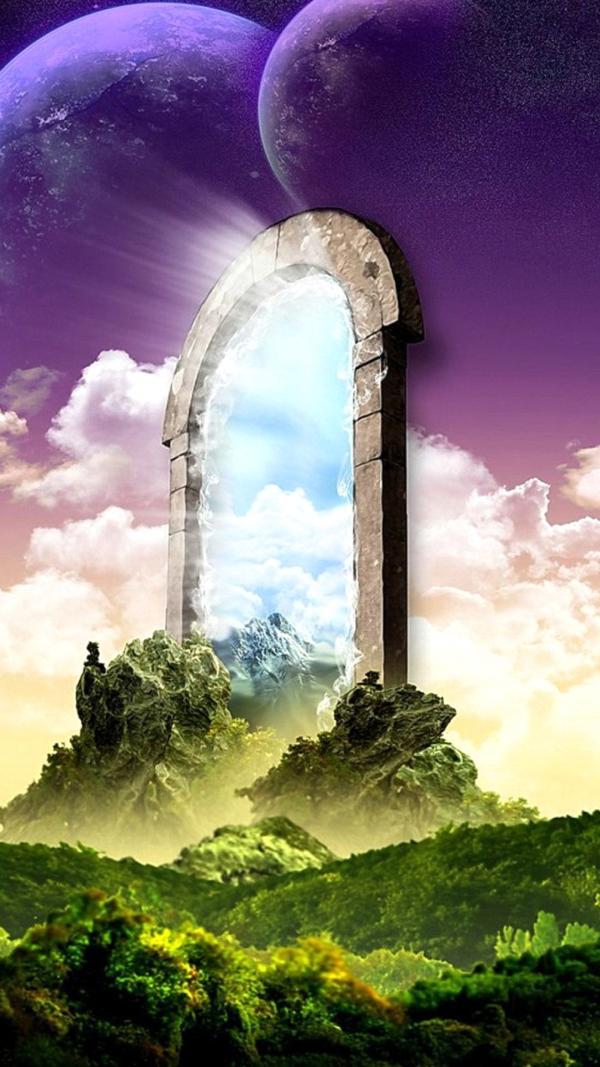 Hình vũ trụ bao la tựa như cổng trời