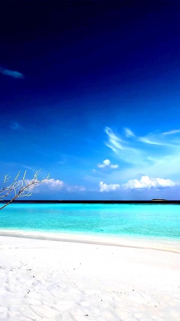 Hình về bầu trời và biển xanh cho điện thoại