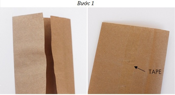 Bước 1 - Cách làm túi giấy gói quà