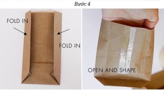 Bước 4 - Hoàn thành sản phẩm túi giấy gói quà bằng giấy kraft