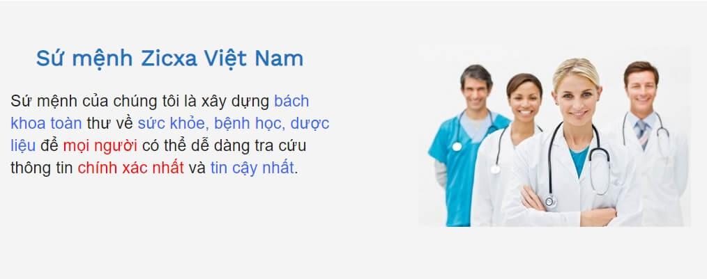 Sứ mệnh Zicxa Việt Nam