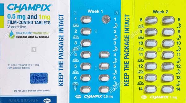 Thuốc Champix dùng để cai thuốc lá thuốc lào một cách từ từ