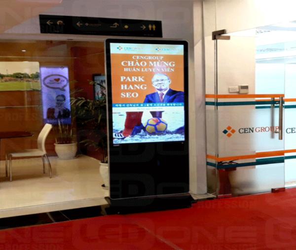 Trình chiếu quảng cáo bằng màn hình chân đứng
