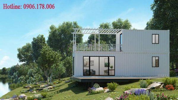 Mẫu thiết kế nhà container chồng tầng đẹp
