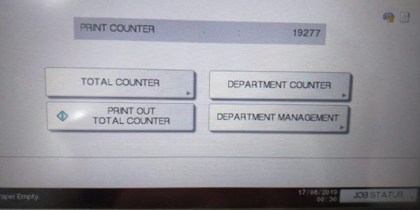 Để in số counter bạn chọn PRINT OUT TOTAL COUNTER