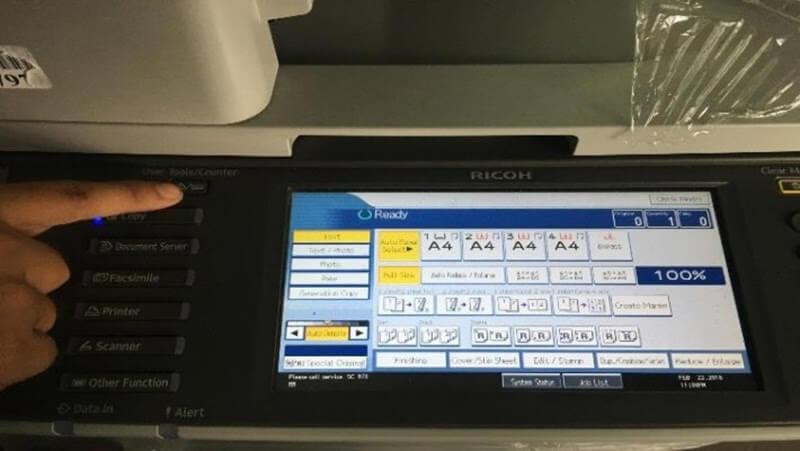 Cách xem số counter trên máy photocopy Toshiba và Ricoh