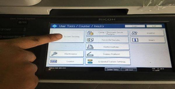 Hướng dẫn cách xem số counter trên máy photocopy Ricoh