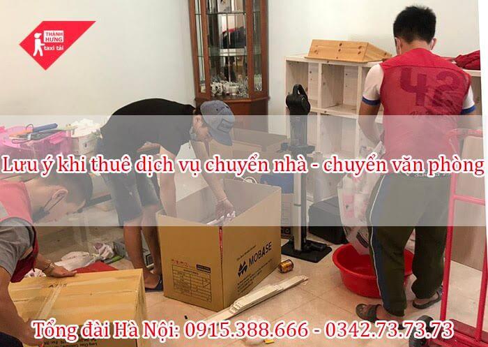 Lưu ý khi thuê dịch vụ chuyển nhà trọn gói - chuyển văn phòng tại Hà Nội