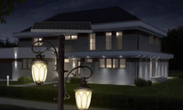 Đèn trụ cao sân vườn năng lượng mặt trời GV-GDL0840