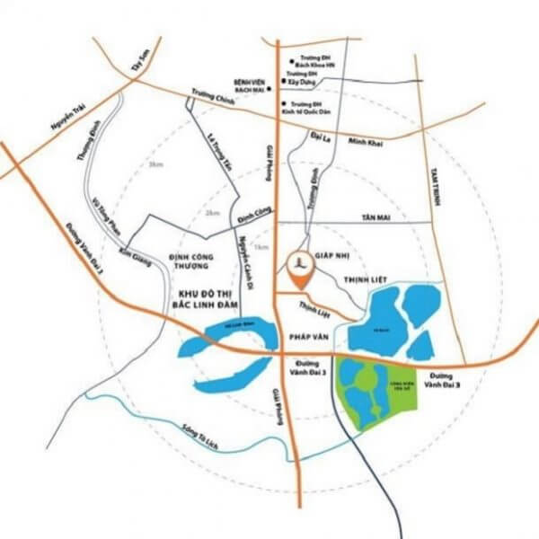 Địa điểm của dự án chung cư Liberation Geleximco 897 Giải Phóng