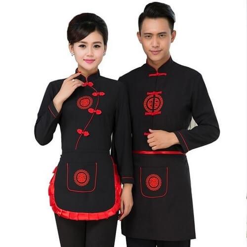 Đồng phục nhà bếp kiểu Trung Hoa