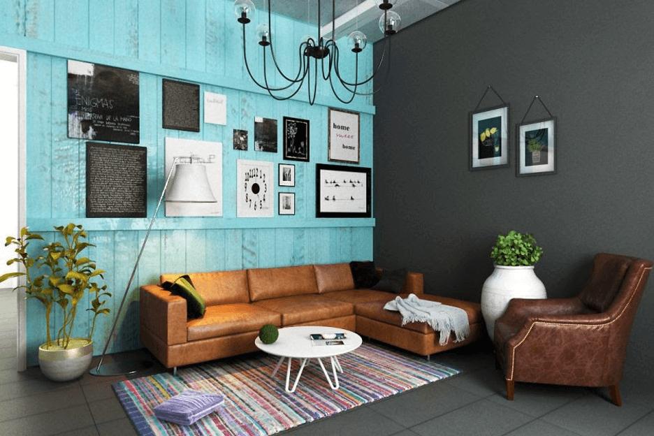 Phòng khách sang trọng theo nội thất vintage