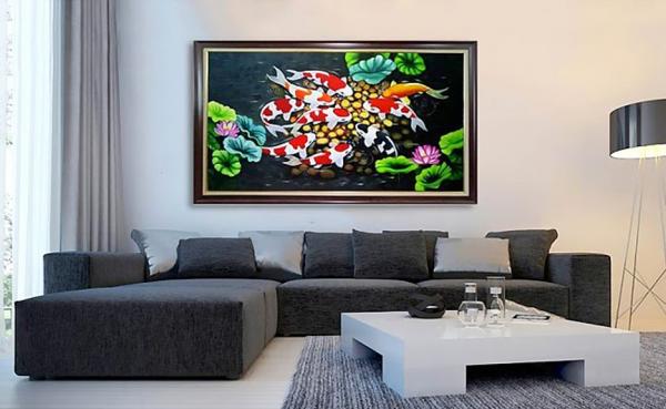 Tranh phong cảnh đẹp trong trang trí nội thất phòng khách