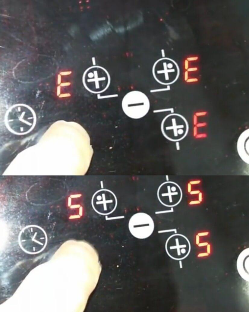 Hiển thị mã lỗi E5