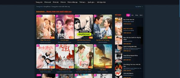 Web xem phim trực tuyến Dongphim.net